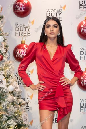 Editorial photo of Lucia Rivera switches on Christmas tree at World Duty Free shop, Madrid, Spain - 04 Dec 2019