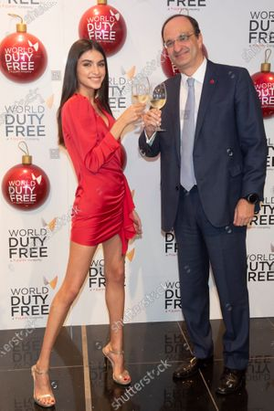 Editorial image of Lucia Rivera switches on Christmas tree at World Duty Free shop, Madrid, Spain - 04 Dec 2019