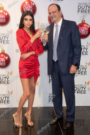 Stock Photo of Lucia Rivera switched on the Christmas tree at the World Duty Free shop into de International area of the Madrid-Barajas Adolfo Suarez Airport