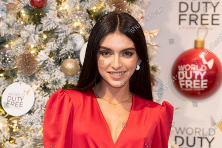 Stock Image of Lucia Rivera switched on the Christmas tree at the World Duty Free shop into de International area of the Madrid-Barajas Adolfo Suarez Airport