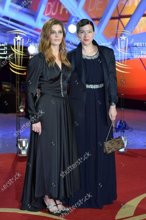 Chiara Mastroianni  (L) and French director Rebecca Zlotowski attend the screening of 'It Must Be Heaven' during the 18th annual Marrakech International Film Festival, in Marrakech, Morocco, 04 December 2019. The film festival runs from 29 November to 07 December 2019.