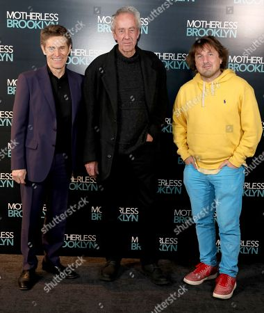 Willem Dafoe, Dick Pope and Daniel Pemberton