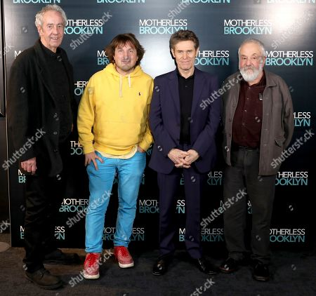 Dick Pope, Daniel Pemberton, Willem Dafoe and Mike Leigh