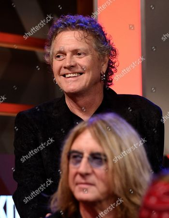 Stock Picture of Rick Allen of Def Leppard look on during a news conference to announce The Stadium Tour 2020 featuring Def Leppard, Poison and Motley Crue, at the SiriusXM offices, in Los Angeles