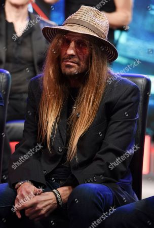 C C DeVille of Poison looks on during a news conference to announce The Stadium Tour 2020 featuring Poison, Motley Crue and Def Leppard, at the SiriusXM offices, in Los Angeles