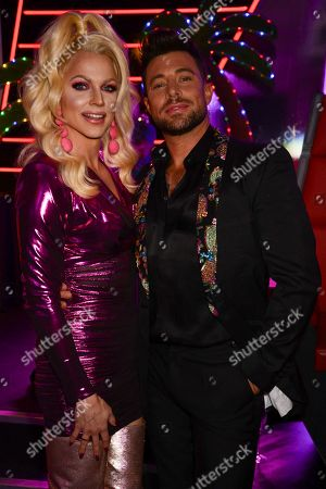 Stock Picture of Courtney Act and Duncan James