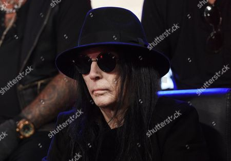 Mick Mars of Motley Crue looks on during a news conference to announce The Stadium Tour 2020 featuring Motley Crue, Poison and Def Leppard, at the SiriusXM offices, in Los Angeles