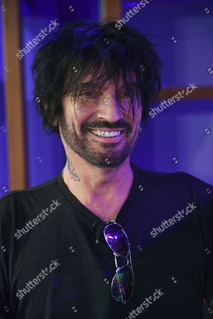 Tommy Lee of Motley Crue is pictured during a news conference to announce The Stadium Tour 2020 featuring Motley Crue, Poison and Def Leppard, at the SiriusXM offices, in Los Angeles