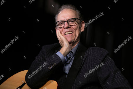 "This photo shows singer, songwriter John Hiatt during an interview in New York to promote his box set ""Only the Song Survives,"" available on Friday"