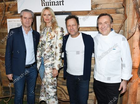 Frederic Dufour, Karolina Kurkova, Vik Muniz, and Daniel Boulud