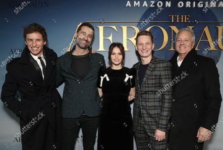 Eddie Redmayne, Producer Todd Lieberman, Felicity Jones, Tom Harper and David Hoberman