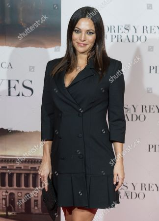 Stock Picture of Elisa Mouliaa attends the 'Pintores y reyes del Prado' documentary film premiere
