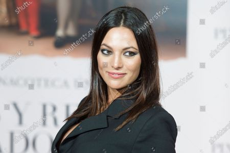 Stock Photo of Elisa Mouliaa attends the 'Pintores y reyes del Prado' documentary film premiere