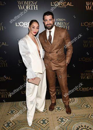 Cara Santana, Jesse Metcalf. Actors Cara Santana, left, and fiancé Jesse Metcalf pose at the 14th annual L'Oreal Paris Women of Worth Gala at the Pierre Hotel, in New York