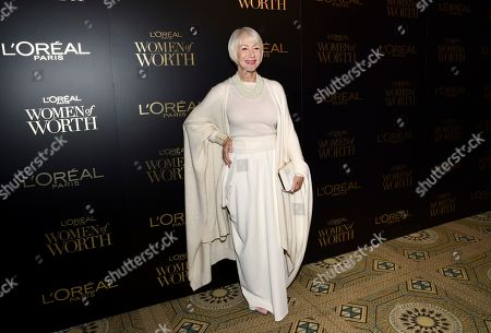 Stock Picture of Dame Helen Mirren attends the 14th annual L'Oreal Paris Women of Worth Gala at the Pierre Hotel, in New York