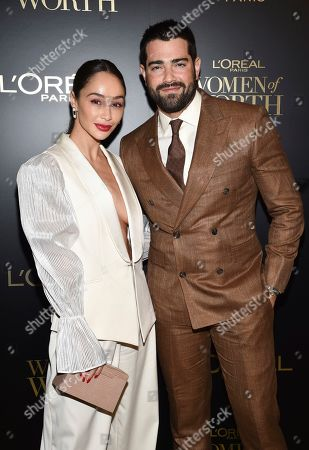 Stock Photo of Cara Santana, Jesse Metcalf. Actors Cara Santana, left, and fiancé Jesse Metcalf pose at the 14th annual L'Oreal Paris Women of Worth Gala at the Pierre Hotel, in New York