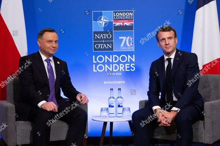 Polish president Andrzej Duda and French president Emmanuel Macron