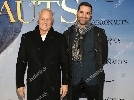 "David Hoberman, Todd Lieberman. David Hoberman, left, and Todd Lieberman, right, attend the premiere of ""Aeronauts"" at the SVA Theatre, in New York"