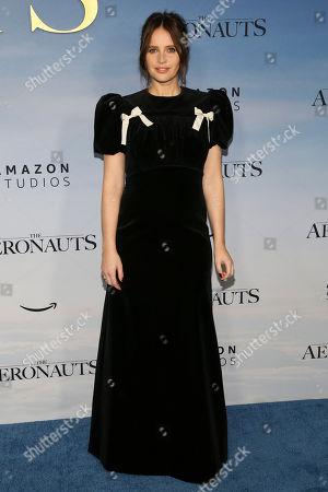 "Felicity Jones attends the premiere of ""Aeronauts"" at the SVA Theatre, in New York"