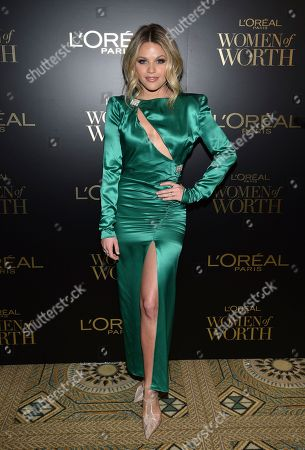 Witney Carson attends the 14th annual L'Oreal Paris Women of Worth Gala at the Pierre Hotel, in New York