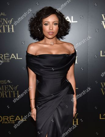 Kat Graham attends the 14th annual L'Oreal Paris Women of Worth Gala at the Pierre Hotel, in New York