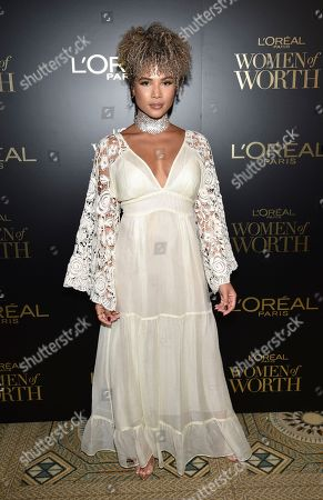 Stock Picture of Doralys Britto attends the 14th annual L'Oreal Paris Women of Worth Gala at the Pierre Hotel, in New York