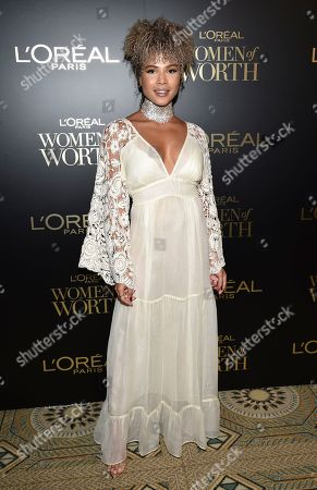 Doralys Britto attends the 14th annual L'Oreal Paris Women of Worth Gala at the Pierre Hotel, in New York