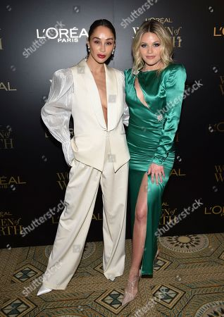 Cara Santana, Witney Carson. Actress Cara Santana, left, and dancer Witney Carson attend the 14th annual L'Oreal Paris Women of Worth Gala at the Pierre Hotel, in New York