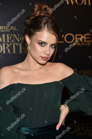 Xenia Tchoumitcheva attends the 14th annual L'Oreal Paris Women of Worth Gala at the Pierre Hotel, in New York