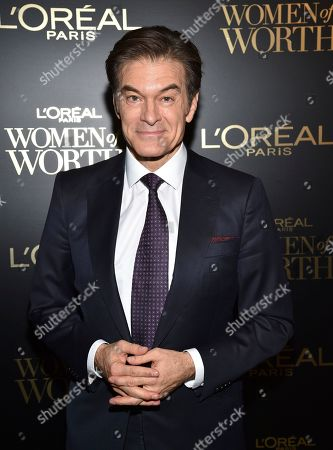 Stock Image of Dr. Dr Mehmet Oz attends the 14th annual L'Oreal Paris Women of Worth Gala at the Pierre Hotel, in New York