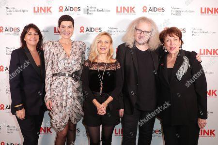 Valerie Expert, Christina Cordula, Nathalie Dessay, Yvan Cassar and Roselyne Bachelot