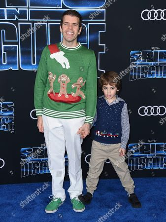 "Perez Hilton, Mario Armando Lavandeira III. Perez Hilton, left, and his son Mario Armando Lavandeira III arrive at the world premiere of ""Spies in Disguise"" at the El Capitan Theatre, in Los Angeles"