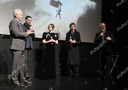 Producer David Hoberman, Producer Todd Lieberman, Felicity Jones, Eddie Redmayne and Amazon Studios Head of Motion Picture Production Ted Hope