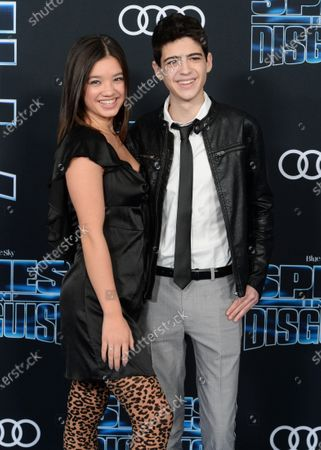 Peyton Elizabeth Lee and Joshua Rush
