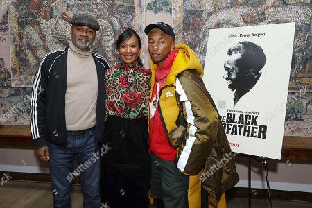Stock Picture of Nelson George, Nicole Avant, Pharrell Williams