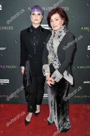"Kelly Osbourne, Sharon Osbourne. Kelly Osbourne, left, and Sharon Osbourne attend a special screening of ""A Million Little Pieces"" at the London Hotel, in Los Angeles"