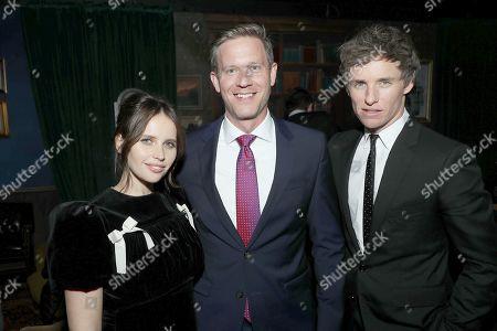 Felicity Jones, Matt Newman (Co-Head of Movies Amazon), Eddie Redmayne