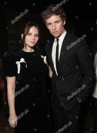 Stock Image of Felicity Jones and Eddie Redmayne