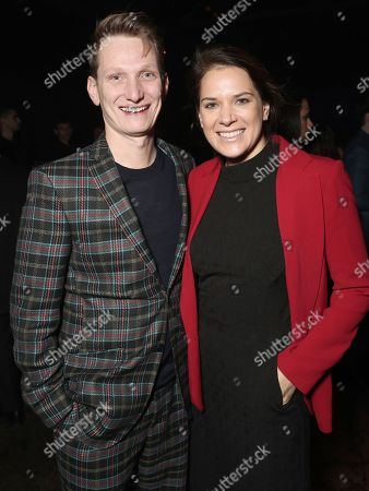 Director Tom Harper and Amazon Studios Co-Head of Movies Julie Rapaport