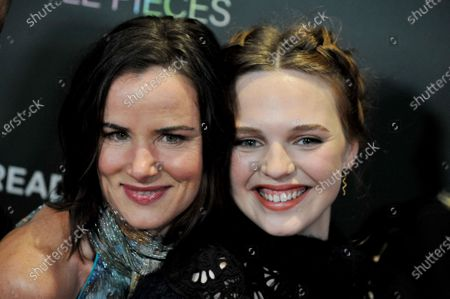 US actress Juliette Lake Lewis (L) and Australian actress Odessa Young (R) arrive at the premiere of the movie 'A Million Little Pieces' at The London West Hollywood at Beverly Hills in Los Angeles, California, USA, 04 December 2019.