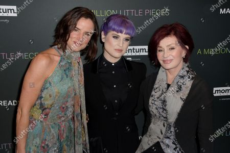 US actress Juliette Lake Lewis (L), British singer-songwriter Kelly Osbourne (C) and her mother, British TV personality Sharon Osbourne (R), arrive at the premiere of the movie 'A Million Little Pieces' at The London West Hollywood at Beverly Hills in Los Angeles, California, USA, 04 December 2019.