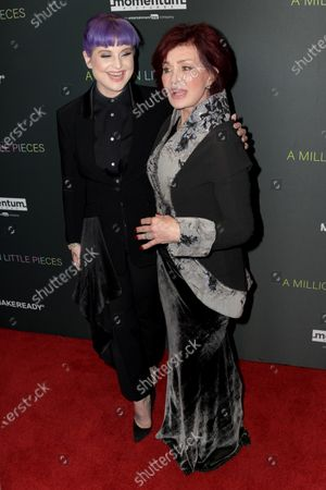 Kelly Osbourne (L) and her mother, British TV personality Sharon Osbourne (R) arrive at the premiere of the movie 'A Million Little Pieces' at The London West Hollywood at Beverly Hills in Los Angeles, California, USA, 04 December 2019.
