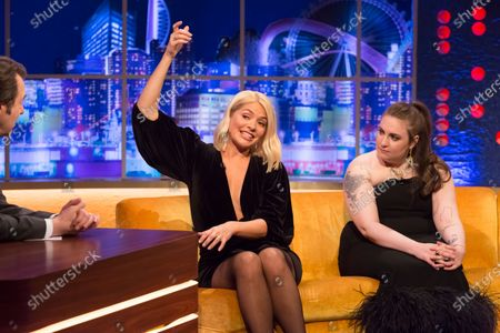 Stock Image of Holly Willoughby, Lena Dunham