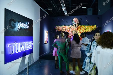 Editorial image of Exhibition featuring artwork from around the world at Art Basel, Miami Beach, Florida, USA - 04 Dec 2019
