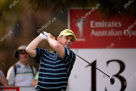 Stock Picture of Greg Chalmers (AUS) tees off on the 13th hole
