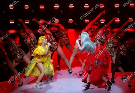 YEARENDER 2019 NOVEMBER  British singer Alice Chater (R) and Australian rapper Iggy Azalea perform during the International Music Award (IMA) 2019 in Berlin, Germany, 22 November 2019. The IMA recognizes the efforts of artists to share their work with a statement independently of the commercial success.