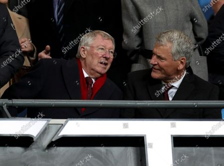 Stock Picture of Sir Alex Ferguson and David Gill in the stands