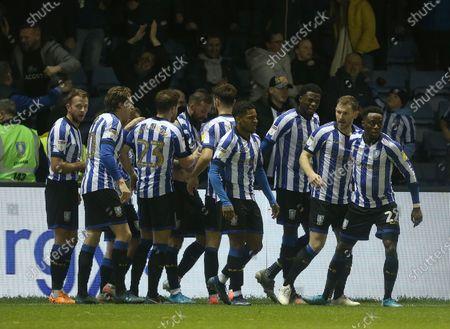 Sheffield Wednesday's Steven Fletcher celebrates his second goal