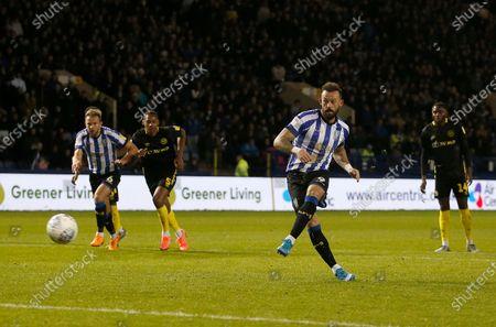 Sheffield Wednesday's Steven Fletcher scores from the penalty spot