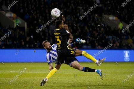 Sheffield Wednesday's Steven Fletcher volleys just wide
